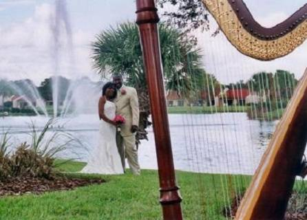 Orange Lake Resort Country Club wedding harpist