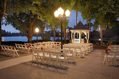 Buena Vista Palace Outback Gazebo wedding ceremony